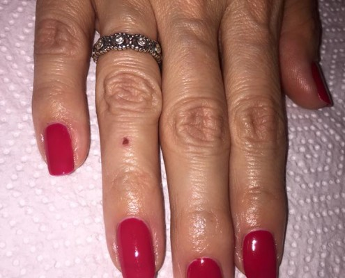 Ruby Red Gel Colour Nails
