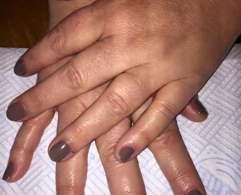 Chocolate Brown Gel Nails