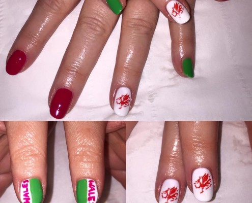 Gel Welsh Rugby Nails