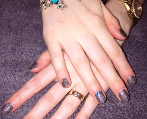 Gun Metal Gel Nails