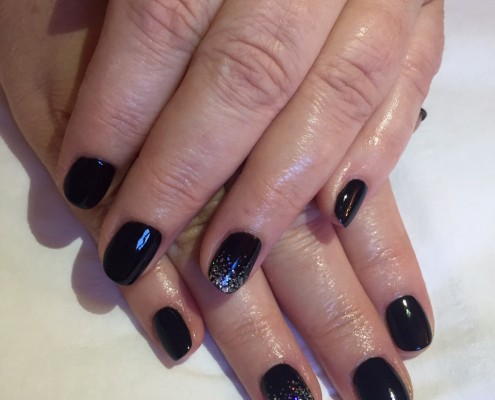 Black Gel With Glitter