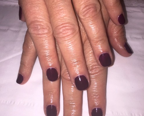 Deep Grape Gel Nails